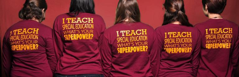 Women with TEACH shirts